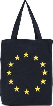 Etudes Europa Tote Bag Unisex Cotton One Size, Blue