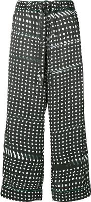 Dotted Wide Leg Trousers