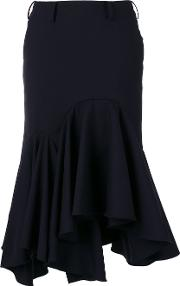 Fitted Flared Skirt Women Cuprowool S, Blue