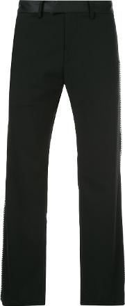 Side Stud Flared Trousers