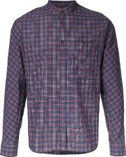 Checked Shirt Men Cotton 44, Red