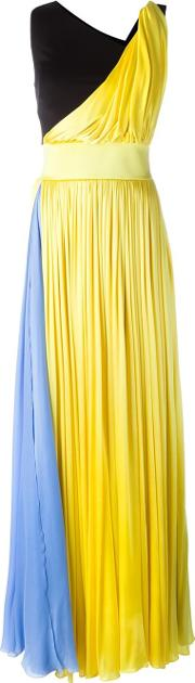 Block Colour Gown Women Silkviscose 40, Yelloworange