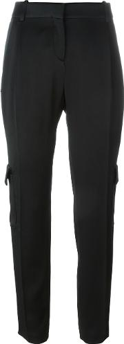 Pocket Detail Pleated Tapered Trousers
