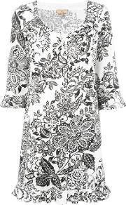 Floral Print Dress Women Cotton Xl, Women's, White