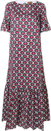Novelty Print Flared Dress