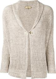 Ribbed Knit Cardigan Women Cottonlinenflax Xs, Nudeneutrals