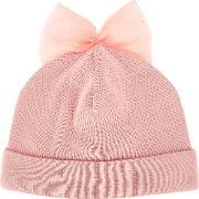 'bow Detail' Beanie Women Cottonpolyester One Size