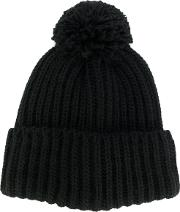 Federica Moretti Ribbed Knit Beanie Women Acrylicwool One Size, Black