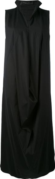 Draped Structure Dress Women Cottonspandexelastanepolyimide S, Black