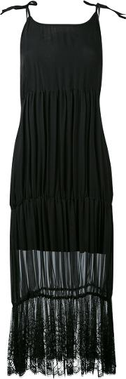 Lace Trim Dress Women Silkspandexelastanemodal S, Black