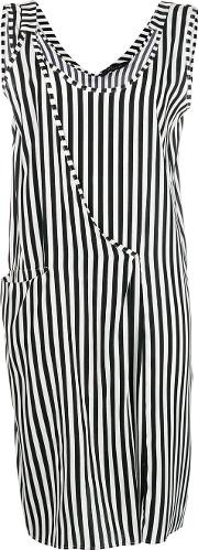 Striped Asymmetric Shift Dress