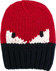 Bag Bugs Beanie Men Wool One Size, Red
