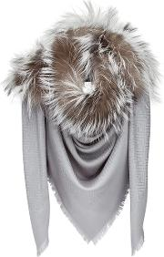 Fur Trim Scarf