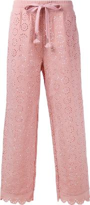 Puma Embroidered Trousers Women Polyester M, Pinkpurple