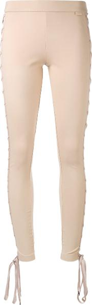 Puma Lace Up Skinny Trousers Women Nylonspandexelastaneviscose S, Nudeneutrals