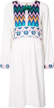 Violeta Embroidered Peasant Dress