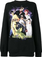 Never Forget Printed Sweatshirt Women Silkpolyesterviscose