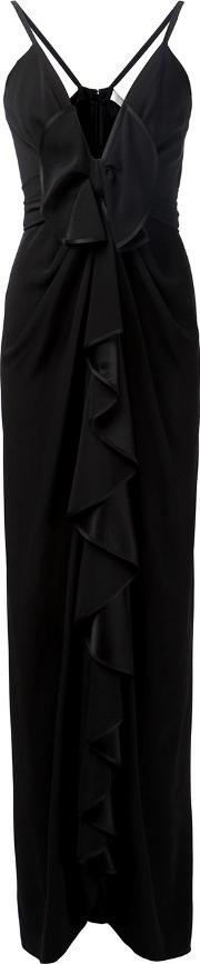Ruffle Front Evening Gown