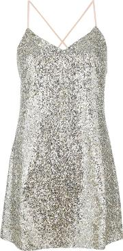 Sequin Embellished Cami Dress
