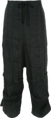 Cropped Panel Trousers