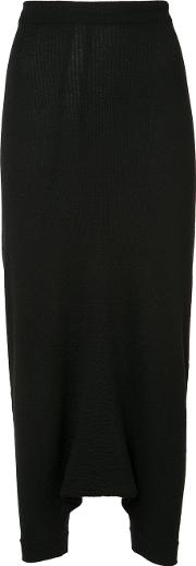 Forme D'expression Knitted Trapeze Pants Women Virgin Wool M, Black