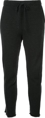 Forme D'expression Raw Cuff Trousers Women Wool M, Black