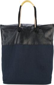 Large Tote Bag Women Cottonleather One Size, Black