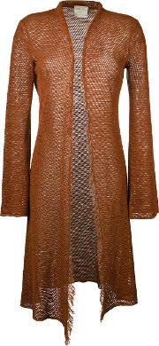 Longline Cardigan Women Cottonlinenflax I, Brown