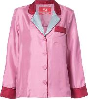 F.r.s For Restless Sleepers Classic Fitted Blouse Women Silk Xs, Pinkpurple
