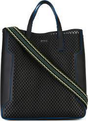 Marina Tote Men Calf Leather One Size, Black