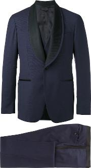 Contrast Lapel Dinner Suit Men Cuproviscosewool 50, Blue