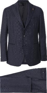 Gabriele Pasini Embroidered Three Piece Suit Men Cottonpolyesterviscosewool 48, Blue