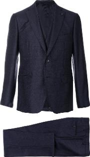 Gabriele Pasini Embroidered Three Piece Suit Men Polyesterviscosewool 46, Blue