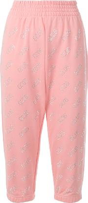 Monogram Cropped Track Trousers