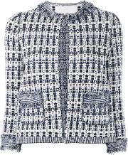 Patterned Open Front Jacket Women Cottonpolyesterviscose S
