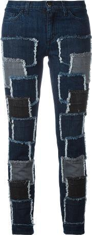 Patches Stretched Jeans Women Cottonspandexelastane 44