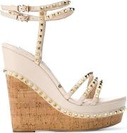 Studded Wedge Sandals