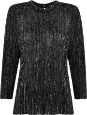 Knit Blouse Women Polyamide P, Black