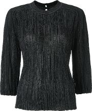 Knitted Blouse Women Polyamidepolyesterviscose Pp, Black