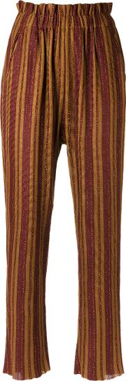 Striped Knit Trousers Women Polyesterviscose M