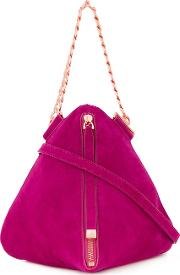 Ravish Evening Shoulder Bag Women Suede One Size, Pinkpurple