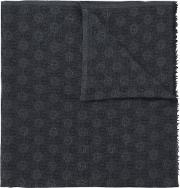 Monogram Scarf Men Silkcashmerewool One Size, Grey