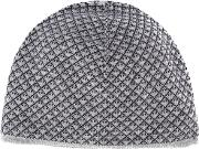 Reversible Logo Beanie Men Virgin Wool M, Grey