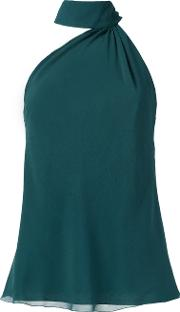 Silk Blouse Women Silk 42, Women's, Green