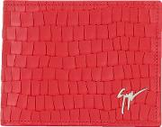 Albert Wallet Men Leather One Size, Red