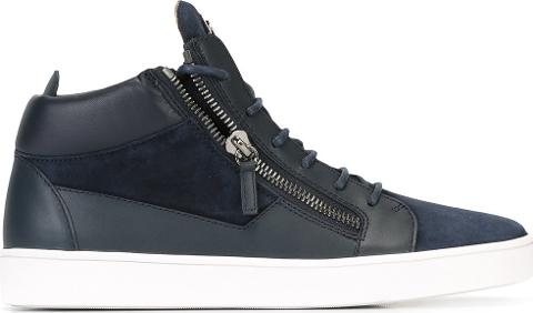 3f518894a8f giuseppe zanotti design Keith Hi Top Sneakers Men Leathersuederubber ...