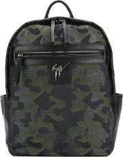 Randy Camouflage Backpack Men Leatherpolyester