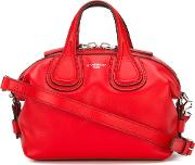 Micro 'nightingale' Tote Women Calf Leather One Size, Red