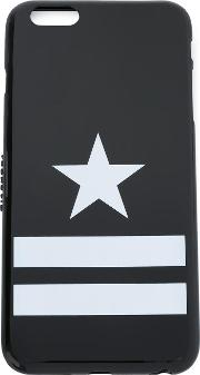 Star And Stripes Print Iphone 6 Cover Women Polyurethane One Size, Black
