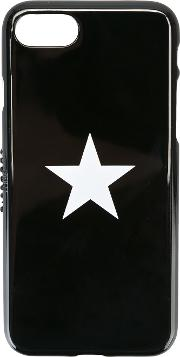 Star Print Iphone 7 Case Men Polyurethane One Size, Black